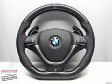 BMW X5 X6 M Ring M Stitch Nappa Leather SMALLER Diameter CARBON Steering WHEEL