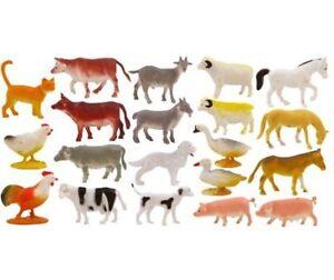 NEW 3x TOY MINI FARM ANIMAL FIGURES + SHEEP, GOAT, COW QUICK DESPATCH