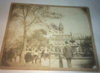 Rare Antique Victorian American Cityscape New York City Hall Cabinet Photo! 1897