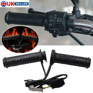Motorcycle Heated Grips 12V 22mm 7/8'' 2 ATV Scooter Heat Settings Hot Hand UK