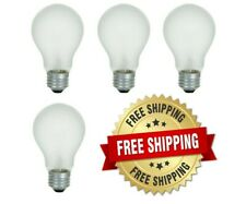 Incandescent Light Bulbs 100 Watt 75 Watt 60 Watt 40 Watt A19 E26 Base - 4 Bulbs