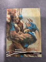 1996 X-MEN FLEER ULTRA: WOLVERINE - BASE CARD # 68 WOLVERINE VS. SABRETOOTH