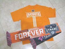 Adidas MLS HOUSTON DYNAMO Shirt & SGA Go Orange Forever Scarf Football Lot USED