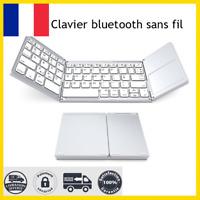 clavier sans fil AZERTY double bluetooth ultra fin Windows Mac iOS FRANCE