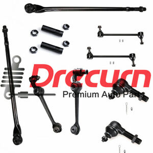 10PC Lower Control Arm Ball Joint Tierod Sway Bar Set For Concorde LHS Intrepid