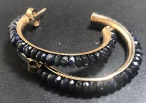 Lovely 9ct Gold Sapphire Stud Earrings