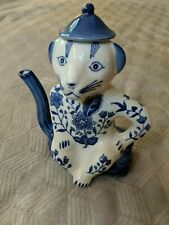 Formalities by Baum Bros Cat Teapot China Asian Style - Blue and White Floral