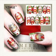 Nail Art Water Decals Stickers Transders Christmas Snow Dolls (A150)