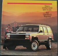 1986 Jeep Cherokee Pioneer Chief Laredo Wagoneer Original Dealer Sales Brochure
