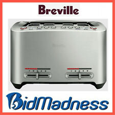 BREVILLE BTA845BSS the SMART TOAST 4 SLICE EXTRA WIDE TOASTER STAINLESS STEEL