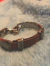 bracelet By b & g Of Spain.  Custom Jewellery  Steel And Leather C1
