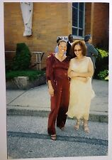 Vintage PHOTO Two African American Black Women After Sunday Church