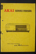 AKAI VS-1 Video Cassette Recorder Original Service-Manual/Schaltplan/Diagram o89