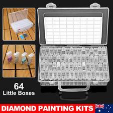 New 64 Slot Case Diamond Painting Storage Box Art Nail Embroidery Jewelry Beads