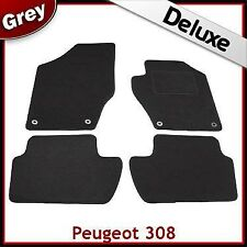 Peugeot 308 2007 - 2009 2010 2011 2012 2013 Tailored LUXURY 1300g Car Mats GREY
