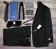 8pc Lot Armani Tuxedo 42L Brioni Ferretti Bow Tie Cummerbund Stefano Ricci Socks