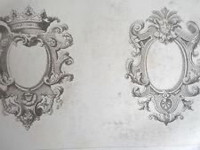 MIRROIR époque LOUIS XIV GRAVURE décoration intérieure ADAMS MEUBLE XIXéme