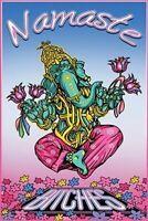 NAMASTE B*TCHES ~ GANESHA ~ 24x36 YOGA HUMOR POSTER ~ Calm Buddah Meditate
