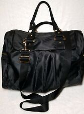 LESPORTSAC TOTE CROSSBODY BAG SHOULDER HANDBAG DETACHABLE STRAP BLACK  235$