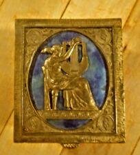 Oscar Bach Smaller Bronze Box With Blue Enamel.