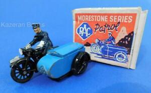 Vintage Morestone Series RAC Motorcycle Sidecar Patrol Series Diecast Model &Box