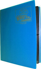 (5) BCW-MB-4P-MAB Aqua Blue Trading Game Card Binder 4 Pocket Monster Protectors