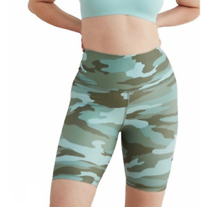 Aerie Chill Play Move Camo High Waisted Bike Shorts Workout Lounge Women's XXL