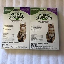 (2) Sergeants Natures's Guardian Natural Flea & Tick Treatment For Cats & Kitten