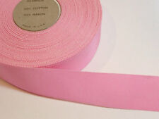 Pink Grosgrain Ribbon 1 1/2 inches wide x 10 yards, Rayon Cotton, Petersham Edge
