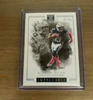 2016 PANINI IMPECCABLE KEENAN ALLEN SP /25 ~ SAN DIEGO CHARGERS