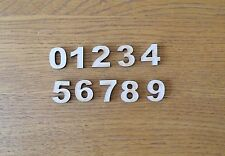 Set (or choose your own) of 15mm (1.5cm)  Wooden MDF Numbers blank craft shapes