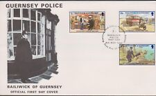 GB - GUERNSEY 1980 Police Force/60th Anniversary SG 214-216 FDC MOTORBIKE DOGS
