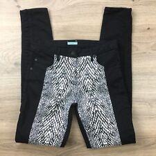 Kookai Skinny Jeans Snakeskin Print Panel Size 38 or 10 Women's Jeans W28 (BU4)