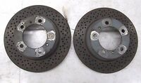 2013-2015 PORSCHE BOXSTER 981 OEM REAR BRAKE DRILLED ROTORS SET PAIR 8,065 MILES