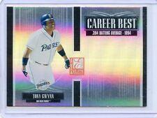 2005 DONRUSS ELITE #CB25 TONY GWYNN CAREER BEST REFRACTOR 563/1500 - SD PADRES