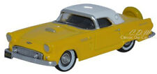 Oxford 1956 Ford Thunderbird Yellow/White Die-Cast Metal Car 1/87 HO Scale #5605