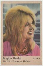 Brigitte Bardot 1964 Dutch Gum TRADING CARD from Greece Film Star A #96 E3
