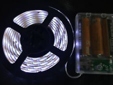 2m long, 120 WHITE LED, AA Battery Powered Waterproof LED Light Strip
