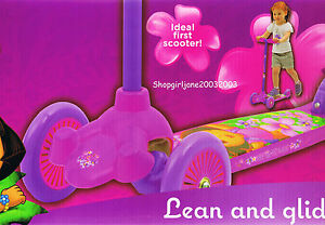 Dora the Explorer - Lean & Glide Scooter - 3 wheels - Brand new in box
