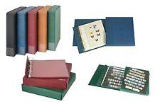 LINDNER 1100-B Kassettenbinder Briefmarkenalbum ECO + Kassette Blau