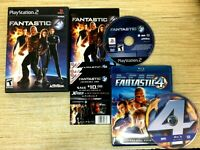 Fantastic 4 Four (PlayStation 2, PS2) CIB W/ TARGET EXCLUSIVE + BLU-RAY MOVIE