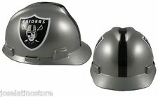 "MSA V-Gard Cap Type Oakland Raiders NFL Hard Hat ""RATCHET"" Suspension"