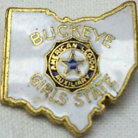 Vintage Buckeye Girl's State Pin American Legion Auxiliary