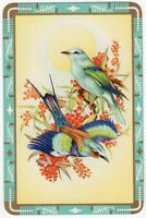 Playing Cards Single Card Old BLUEBIRDS FLOWER BLOSSOM Birds Art Picture Design