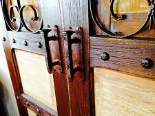 Pair Of Rustic Rail Spike Barn Gate Cabinet Handles hand made unique