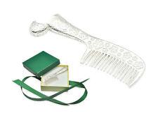 Silber Kamm 925 Geschenk zur Taufe Geburt - inkl. Lasergravur + Geschenkbox