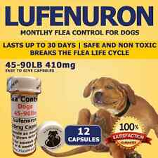 "Flea Control for Dogs 45-90lbs ""12 Month"" 410mg Flea Control Capsules"
