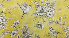 iLiv Finch Toile Buttercup Bird Curtain Upholstery Craft Designer Cotton Fabric