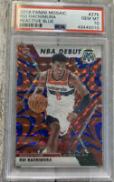 🔥2019 Panini Mosaic Reactive Blue #275 Rui Hachimura Wizards Rookie PSA 10 RC