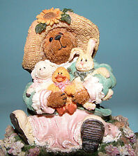 "Boyds Bears music box ""Miss Hattie & Co.Springtime Friends"" # 270569 Nib 2002"